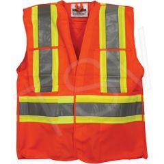 SDL041 Traffic Safety Vest Colour: High Visibility Orange Reflective Stripe Colour: Silver/Yellow (SML-3XL)VIKING