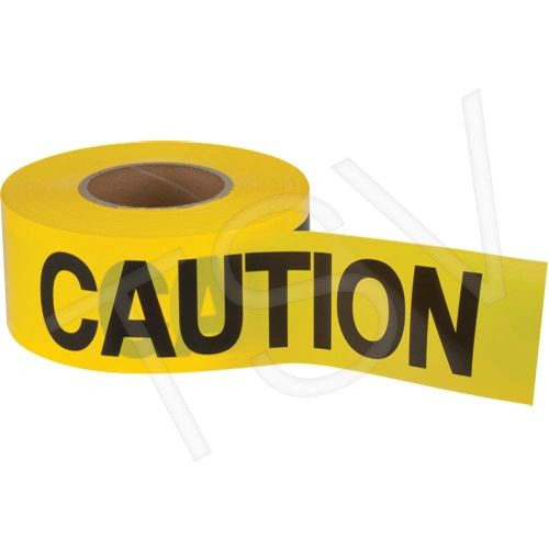 """SEK400 Barricade Tape CAUTION 2mil Thick 3""""Wx1000'L Black on Yellow HVY-DUTY ZENITH"""