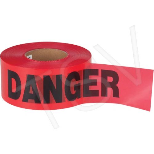 "SEK399 Barricade Tape ""Danger"" ENGLISH 3"" x 1000' STANDARD GRADE BLACK ON RED ZENITH"