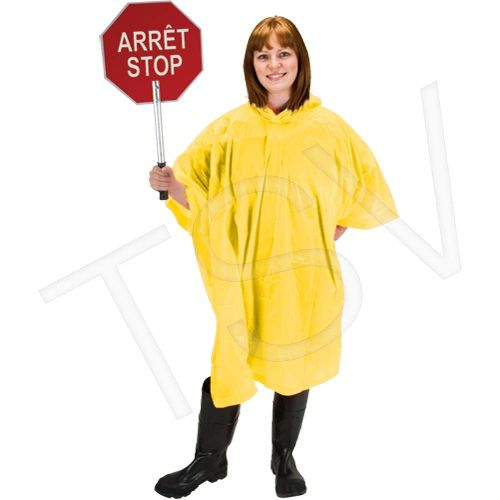 SEH121 RZ Ponchos Rainsuit Material: PVC One Size Yellow 0.10 mm ZENITH