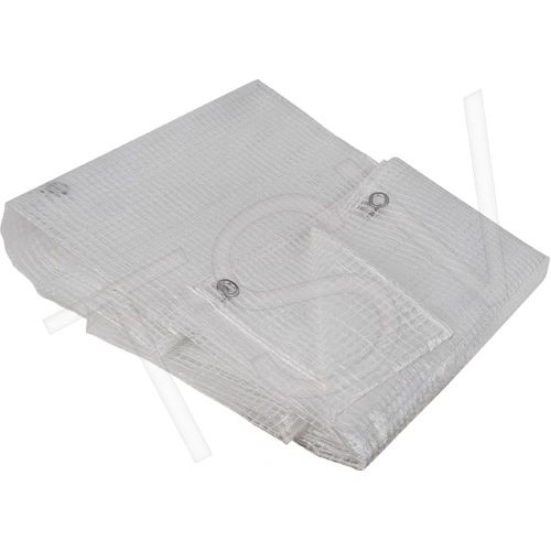 JD414 Clear Tarpaulins Reinforced Nylon Gridding: (8-mil) thick Water and mildew resistant (8', 10' & 16')