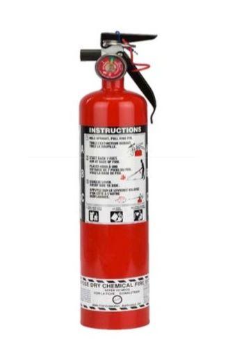 SAQ814 Steel Dry Chemical ABC Fire Extinguishers 2.5LB Type: Class A/ B/C Rating: 1A:10BC Range: 8' - 10