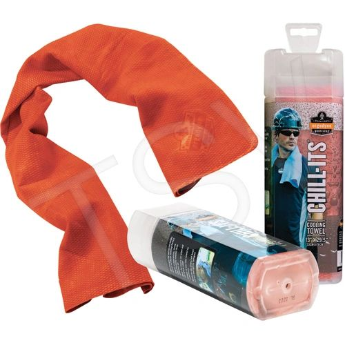 SEB126 Chill-Its® 6602 Cooling Towels PVA REUSABLE (ORANGE/LIME/BLUE/PINK/GREY) ERGODYNE