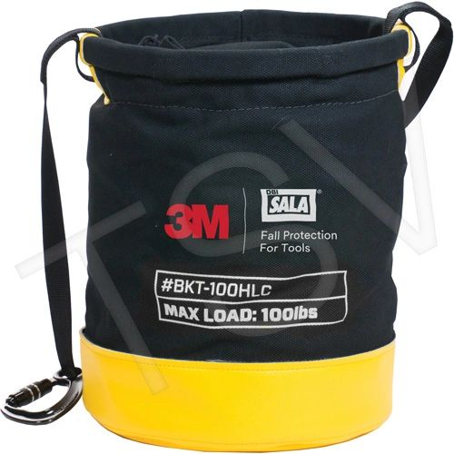 "SFV223 Tool Lifting Safe Bucket 12.5""D x 5""H D-Ring Connectors 3M DBI SALA FALL"