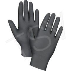 SEB085 Nitrile Gloves, Black Disposable 4MIL Powder-Free Textured fingertip FDA APPR.100/BX (SZ S-XXL)ZENITH