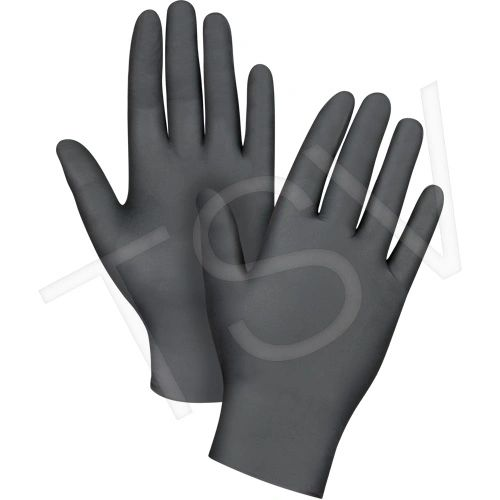 SEB085 Nitrile Gloves, Black Disposable 4MIL Powder-Free Textured fingertip FDA APPR.100/BX (SZ S-XXL)ZENITH