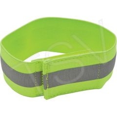 """SEF122 Arm & Leg Bands 2"""" Lime-Yellow/Silver Reflective Hook & Loop ZENITH"""