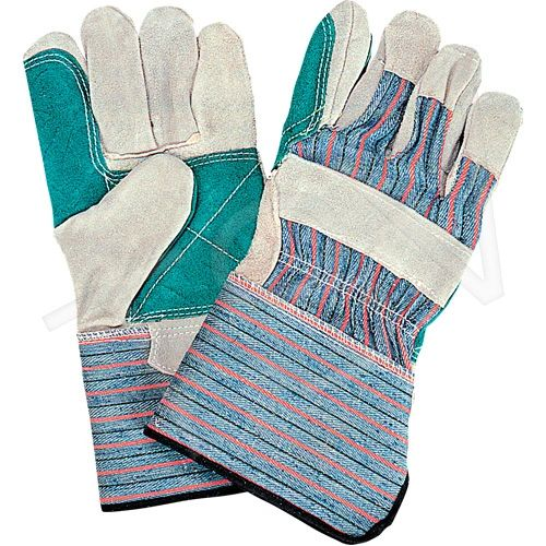 """SM579 Standard Quality Double Palm Split Cowhide Fitters Glove, 4"""" Gauntlet Cuff, Outside Double Palm & Index Finger ZENITH"""