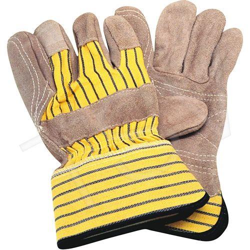 SE349 Standard Quality Double Palm Split Cowhide Fitters Glove, Inside Double Palm & Index Finger Large ZENITH