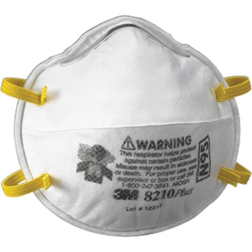 ***TEMPORARILY RESTRICTED FROM ORDERING*** SAQ778 3M 8210 Plus N95 Particulate Respirators 20/BX