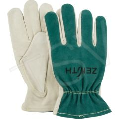 SDK966 Premium Quality Cowhide Drivers Gloves Unlined Leather Palm Grain Cowhide Thumb Style: Keystone (SZs MED-XLRG) ZENITH