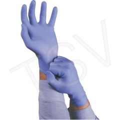 "SAW937 TouchNTuff® Blue #92-675 Gloves, BOX OF 100 Nitrile Length: 9.5"" Thickness: 5-mil (SZ SML-XLR) ANSELL"