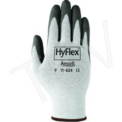 SAW989 HyFlex® 11-624 Gloves 13Gauge Dyneema® (SZ 6-11) Cut Resistance: ANSI/ISEA 105 Level 2 ANSELL