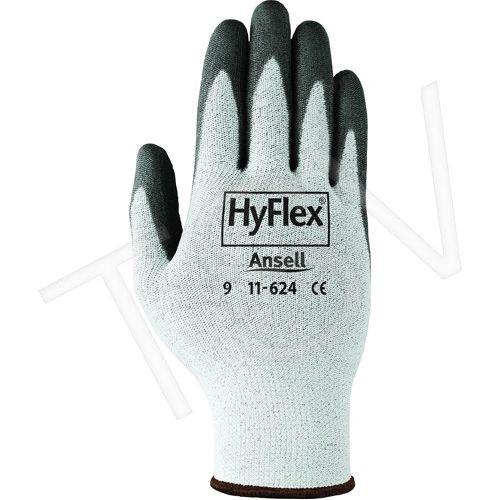 SAW989 HyFlex® 11-624 Gloves 13Gauge Dyneema® (SZ 6-11) Cut Resistance: ANSI/ISEA 105 Level 2 ANSELL
