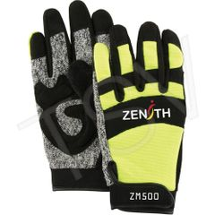 SDP433 ZM500 Hi-Viz Cut Resistant Mechanic Gloves Palm Material: HPPE ZENITH
