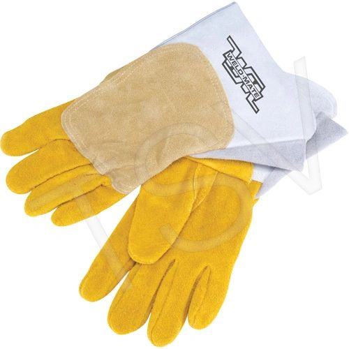 SAV008 Welders' Pipeliner Gloves, Large Unlined Leather Palm Split Cowhide (LRG or XLR) WELD-MATE
