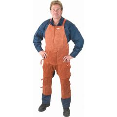 TTU396 Lava Brown Leather Split Leg Apron & Chaps WELD-MATE (42 & 48 Inch Lengths)