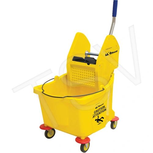 JG952 Mop Bucket & Wringer Yellow Down Press Bucket (38 Quart) RMP