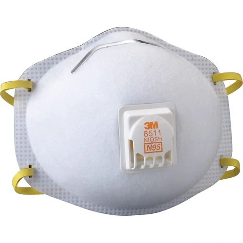 SE261 3M 8511 N95 Particulate Respirators (10/BX or SGQ116 2/PK)