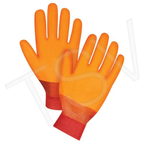"SDN590 PVC Gloves, 12"" KNIT WRIST Winter Lined FOAM LINED LARGE ZENITH"