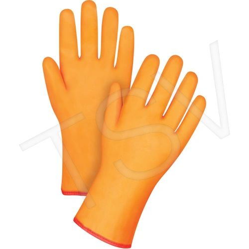"Winter Lined PVC Gloves Large (9) 12""L Heavy Weight Cuff Style: Gauntlet ZENITH"