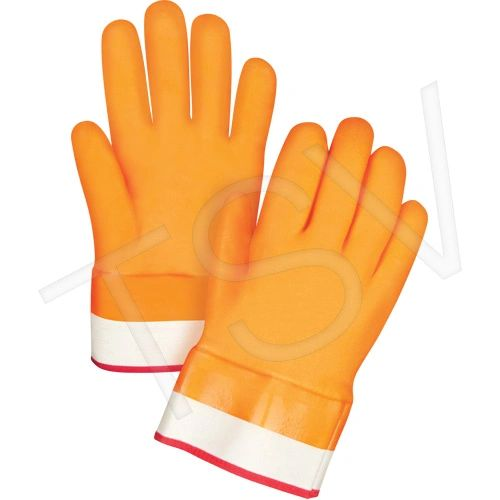"SDN592 Winter Lined PVC Gloves Large (9) x 10""L Heavy Weight Cuff Style: ZENITH"