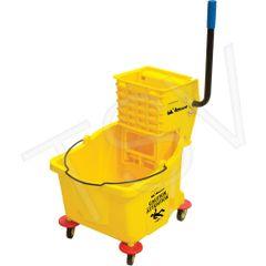JG811 Mop Bucket Wringer Yellow Wringer Type: Side Press Bucket Capacity: 9.5 US Gal.(38 Quart) RMP