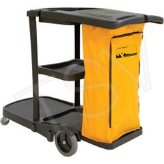 "JG813 Multi-Functional Cart Length: 31"" Width: 20"" Height: 38"" Colour: Black YELLOW BAG RMP"