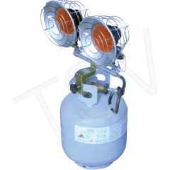 JG967 Sun Blast 30 ® Double Tank-Top Radiant Heater PROPANE Min BTU Rating: 9000 / Max 30000 L.B. WHITE