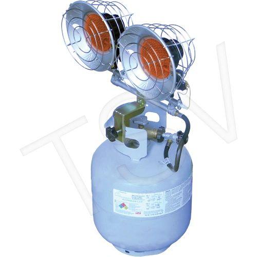JG967 Sun Blast 30 ® Double Tank-Top Radiant Heater PROPANE Min BTU Rating: 9000 / Max 30000 L.B. WHITE