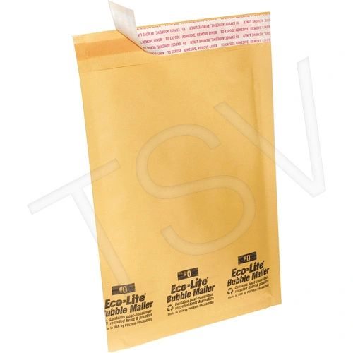 PA626 Ecolite Bubble Shipping Mailers POLYAIR Golden Kraft Self-Seal 100% recycled kraft material (Types #000 - #7)