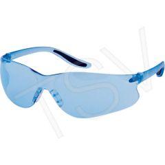 SAS364 FRAMELESS WRAP-AROUND BLUE LENS ANTI-SCRATCH UV PROTECTION Z500 ZENITH