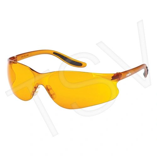 SEE955 FRAMELESS WRAP-AROUND ORANGE LENS ANTI-SCRATCH UV PROTECTION Z500 ZENITH