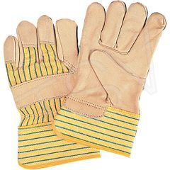 SM582 Standard Quality Cotton Lined Grain Cowhide Fitters Glove Leather Palm ZENITH (SZ's MED - XLR)