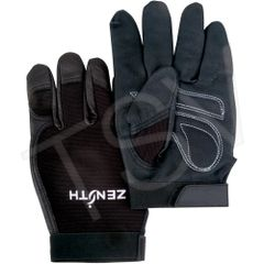 SEB228 Mechanic Gloves Grain Leather Palm Dexterity Grip #ZM300 ZENITH (SZ's MED - 2XLR)