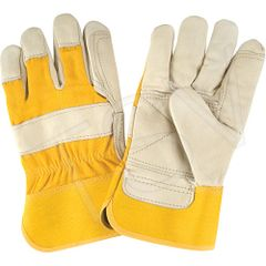SAP223 Premium Quality Lined Grain Cowhide Fitters Gloves Outside Double Palm and Thumb ZENITH