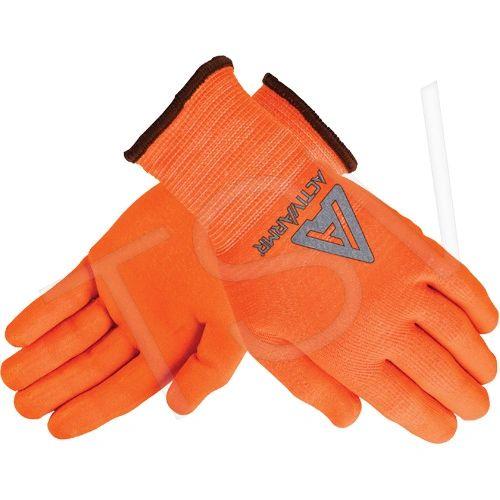 SDR731 ActivArmr ® 97-013 Hi-Viz Gloves 13Gauge Nylon Liner Nitrile/Polyurethane Coating CUT RESISTANCE ANSELL (SZ's SML - 2XL)
