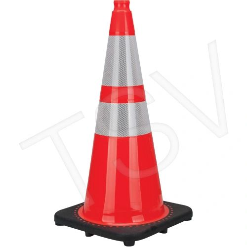 "SEB772 Premium Traffic Cones Height: 28"" Colour: Orange Reflective Collars: 4"" & 6"" ZENITH Distancing"
