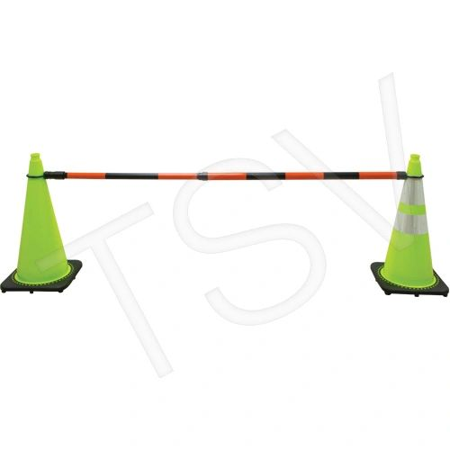 """SDP614 Retractable Cone Bar Collapsed Length: 4' 5"""" Extended Length: 7' 5"""" Colour: Orange/Black ZENITH Distancing"""