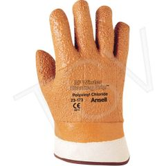 SEE953 Winter Monkey Grip® #23-173 Gloves Raised Finish, Safety Cuff ANSELL SZ10 Cold Application