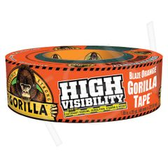 "AF417 High-Visibility Gorilla Duct Tape Width: 48 mm (1-7/8"") Length: 32 m (105') Thickness: 17 mils Orange GORILLA #6044002"