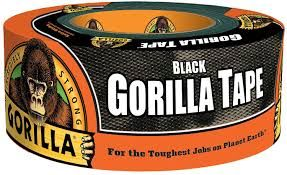"NKA501 Gorilla Duct Tape Width: 48 mm (1-7/8"") Length: 10.97 m (36') Thickness: 17 mils BLACK GORILLA #60124"