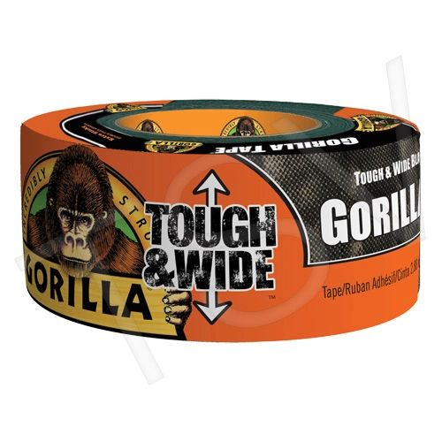"NKA483 Tough & Wide Black Gorilla Duct Tape Width: 73mm (2-7/8"") Length: 27.43 m (90') Thickness: 17 mils BLACK GORILLA #6003001"