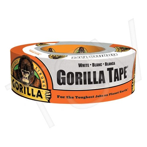 "NKA485 Gorilla Duct Tape Width: 48 mm (1-7/8"") Length: 27.43 m (90') Thickness: 17 mils WHITE GORILLA #6025001"