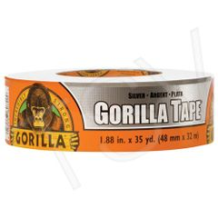 "NKA487 Gorilla Duct Tape Width: 48 mm (1-7/8"") Length: 32 m (105') Thickness: 17 mils GREY GORILLA #6074002"