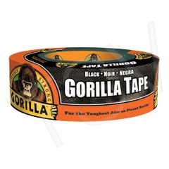 "NKA500 Gorilla Duct Tape Width: 48 mm (1-7/8"") Length: 32 m (105') Thickness: 17 mils BLACK GORILLA #6035060"