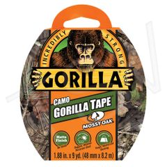 "NKA484 Gorilla Duct Tape Width: 48 mm (1-7/8"") Length: 8.23 m (27') Thickness: 17 mils CAMO GORILLA #6013902"