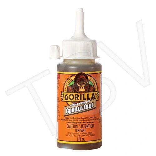 NKA480 Original Gorilla Glue Format: 4 oz. Container Type: Squeeze Bottle Colour: Tan Application Time: 10 min. GORILLA #5100402