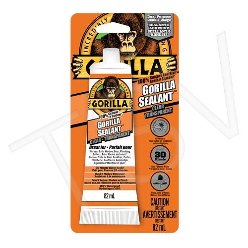 AF415 Gorilla 100% Silicone Sealant Net Volume: 2.8 oz. Colour: Clear Container Type: Tube GORILLA #8190001