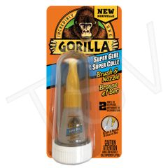 AF412 Gorilla Super Glue Brush & Nozzle Format: 10 g Container Type: Bottle Colour: CLEAR GORILLA #7510101
